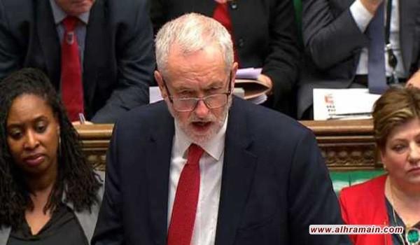 زعيم المعارضة البريطانية لرئيسة الوزراء: لماذا ضرب سوريا وليس السعودية؟